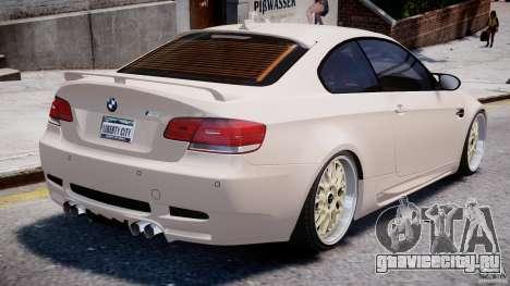 BMW M3 Hamann E92 для GTA 4 вид снизу