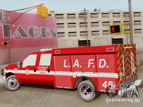 Ford F-350 Super Duty LAFD для GTA San Andreas вид сбоку