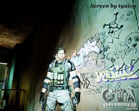 Chris from Resident Evil 5 для GTA 4