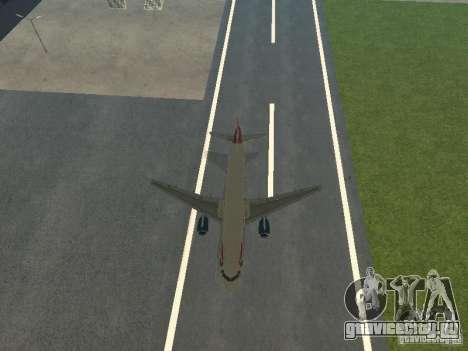 Airbus A320 British Airways для GTA San Andreas вид сбоку