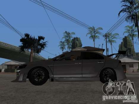 Mitsubishi Lancer Evolution X Drift Spec для GTA San Andreas вид слева
