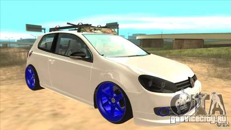 Volkswagen Golf MK6 Hybrid GTI JDM для GTA San Andreas вид сзади