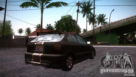 Honda Civic Tuneable для GTA San Andreas вид сбоку