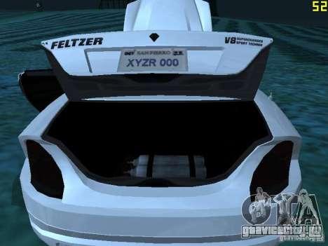 GTA IV Feltzer для GTA San Andreas вид изнутри