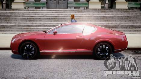 Bentley Continental GT 2004 для GTA 4 вид слева