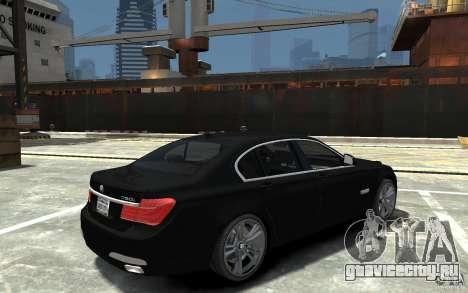 BMW 750i F01 v3 для GTA 4 вид справа