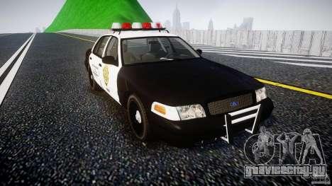 Ford Crown Victoria Raccoon City Police Car для GTA 4 вид сзади