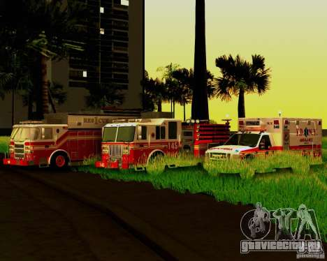 Pumper Firetruck Pierce F.D.N.Y для GTA San Andreas вид сверху