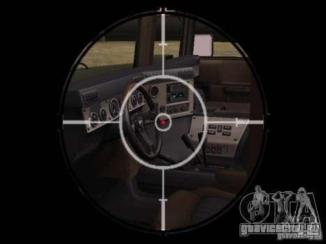 Hummer H1 для GTA San Andreas вид сзади
