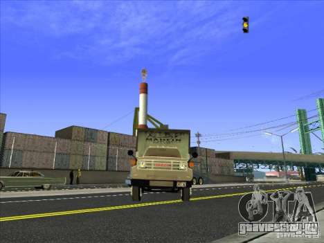 Yankee на базе GMC для GTA San Andreas вид сзади