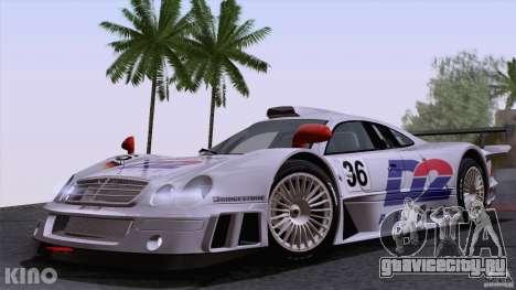 Mercedes-Benz CLK GTR Road Carbon Spoiler для GTA San Andreas вид сбоку