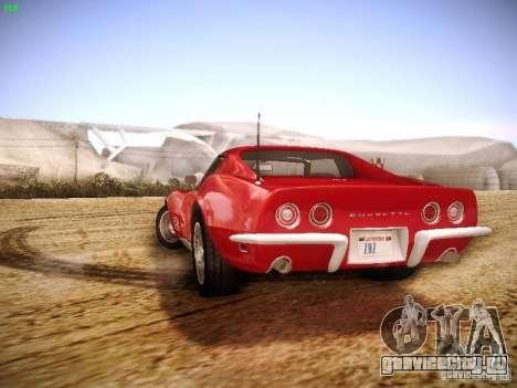 Chevrolet Corvette Stingray 1968 для GTA San Andreas вид изнутри