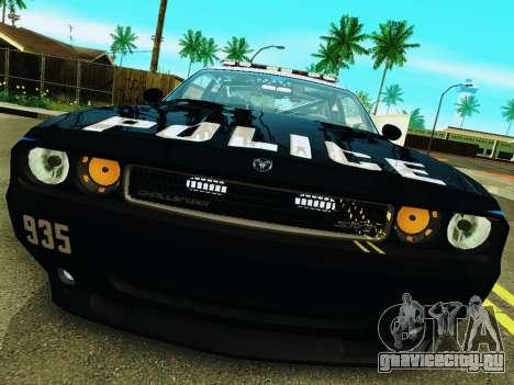 Dodge Challenger SRT8 2010 Police для GTA San Andreas вид слева