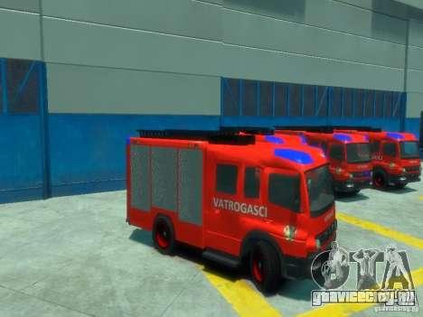 Mercedes-Benz Atego Fire Departament для GTA 4 вид сбоку