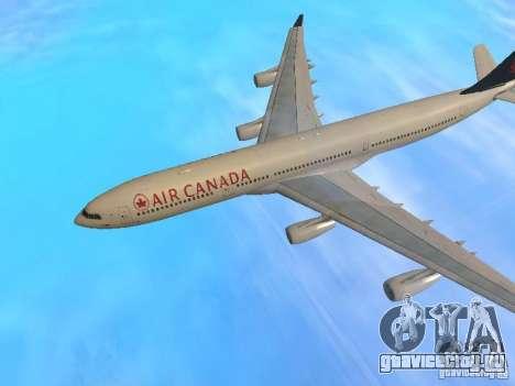 Airbus A340-300 Air Canada для GTA San Andreas вид сбоку