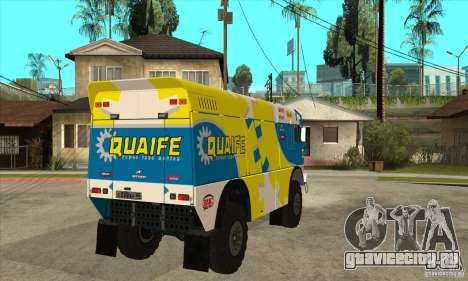 КамАЗ 4911 Rally МАСТЕР для GTA San Andreas вид изнутри