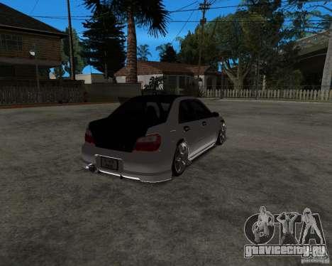 Subaru Impreza (exclusive) для GTA San Andreas вид слева