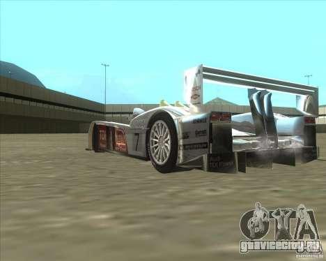 Audi R10 TDI для GTA San Andreas вид сзади