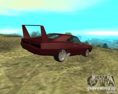 Dodge Charger Daytona для GTA San Andreas вид сзади слева