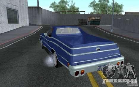 Chevrolet El Camino 1976 для GTA San Andreas вид сзади слева