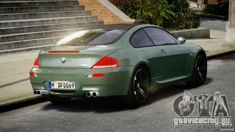 BMW M6 2010 v1.5 для GTA 4 вид сзади слева