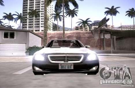 Mercedes-Benz S600 v12 для GTA San Andreas вид изнутри