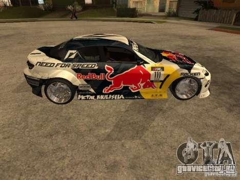 Mazda RX-8 RedBull для GTA San Andreas вид слева