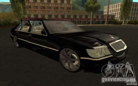 Mercedes-Benz S600 для GTA San Andreas вид сзади слева