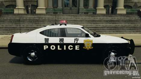 Dodge Charger Japanese Police [ELS] для GTA 4 вид слева