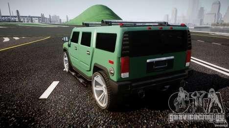 Hummer H2 для GTA 4 вид сзади слева