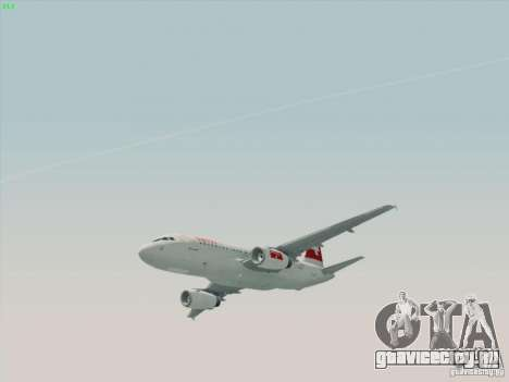 Airbus A319-112 Swiss International Air Lines для GTA San Andreas вид сзади слева