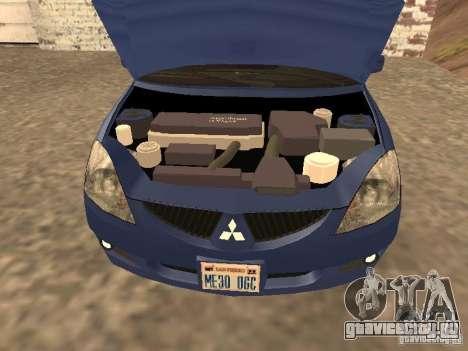 Mitsubishi Lancer 1.6 для GTA San Andreas вид справа