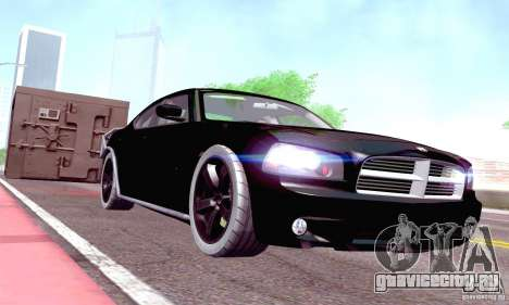 Dodge Charger Fast Five для GTA San Andreas вид изнутри