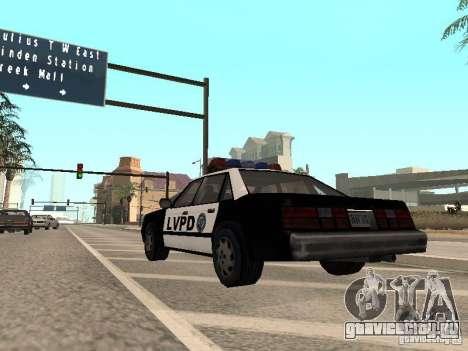 LVPD Police Car для GTA San Andreas вид справа