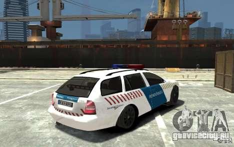 Skoda Octavia Kombi 2005 Hungarian Police для GTA 4 вид справа