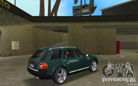 Audi Allroad Quattro для GTA Vice City вид справа
