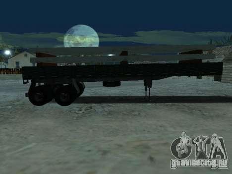 Прицеп для КамАЗа 5410 для GTA San Andreas вид сбоку