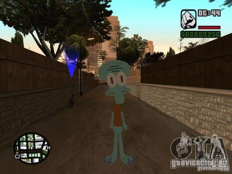 Сквидвард для GTA San Andreas второй скриншот