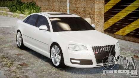 Audi S8 D3 2009 для GTA 4 вид изнутри