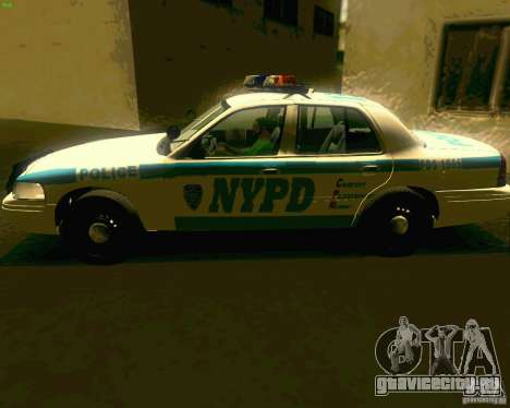 Ford Crown Victoria 2003 NYPD police для GTA San Andreas вид сзади слева