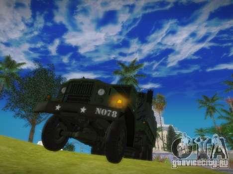 AM General M35A2 для GTA San Andreas вид справа