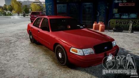 Ford Crown Victoria Detective v4.7 red lights для GTA 4 вид справа