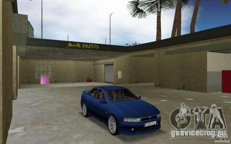 Mitsubishi Galant для GTA Vice City вид сзади