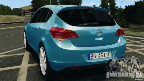 Opel Astra 2010 v2.0 для GTA 4 вид сзади слева