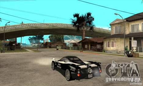 Pagani Zonda F Speed Enforcer BETA для GTA San Andreas вид справа