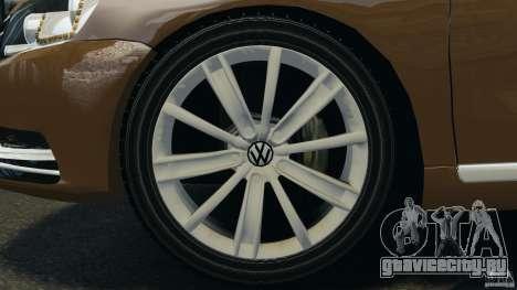 Volkswagen Passat Variant B7 для GTA 4 вид изнутри