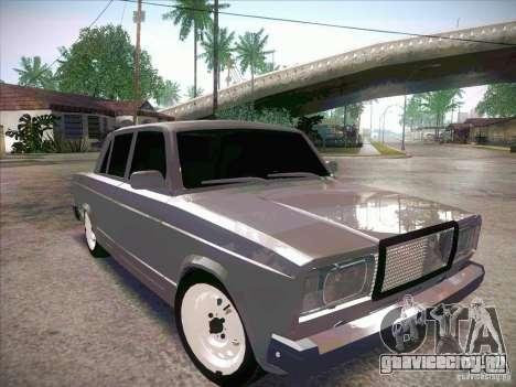 ВАЗ 2107 Criminal для GTA San Andreas вид справа