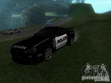 Nissan Skyline R34 Police для GTA San Andreas