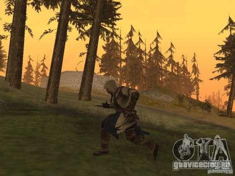 Connor From ACIII для GTA San Andreas пятый скриншот