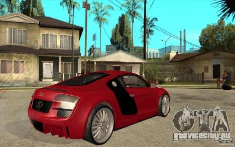 Audi R8 5.2 FSI custom для GTA San Andreas вид справа